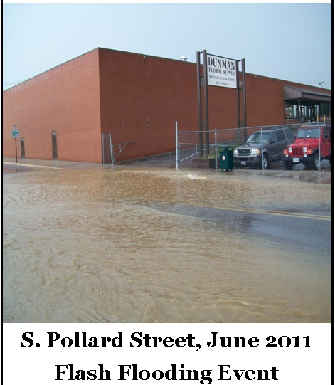 Flash Flooding on S Pollard Street June 2011