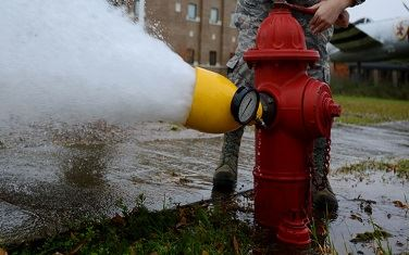 Image of a Fire Hydrant Flow Test
