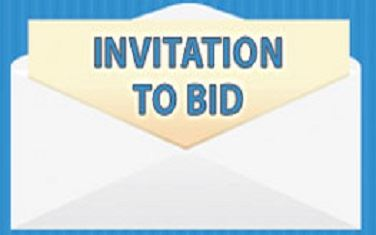 Image of envelope with letter stating Invitation to Bid