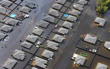 Image of flooded homes