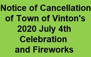 Notice of 2020 Fireworks Cancellation Graphic