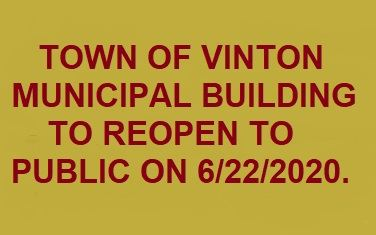 Municipal Building to reopen on 6/22/2020