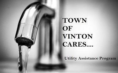 Water Faucet with Town of Vinton Cares and Utility Assistance Program wording Opens in new window