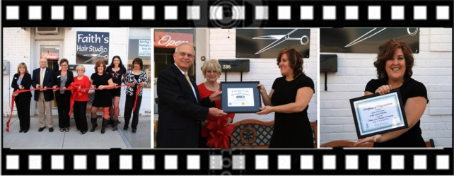 Faiths Hair Salon Ribbon Cutting