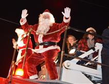 Santa at the Vinton Christmas Parade
