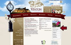 Vinton VA Website Homepage
